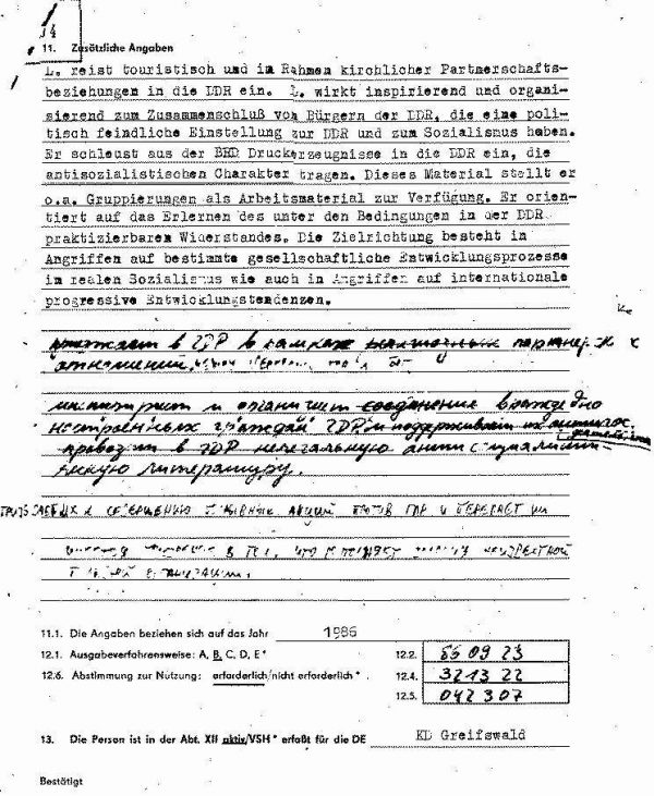 Stasi-Akte Inspirator PUT