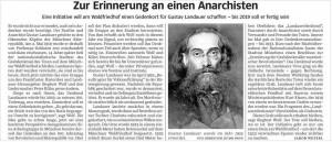 Erinnerung an einen Anarchisten
