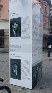 Erich Mühsam und Ernst Toller 2015 am Jakobsplatz