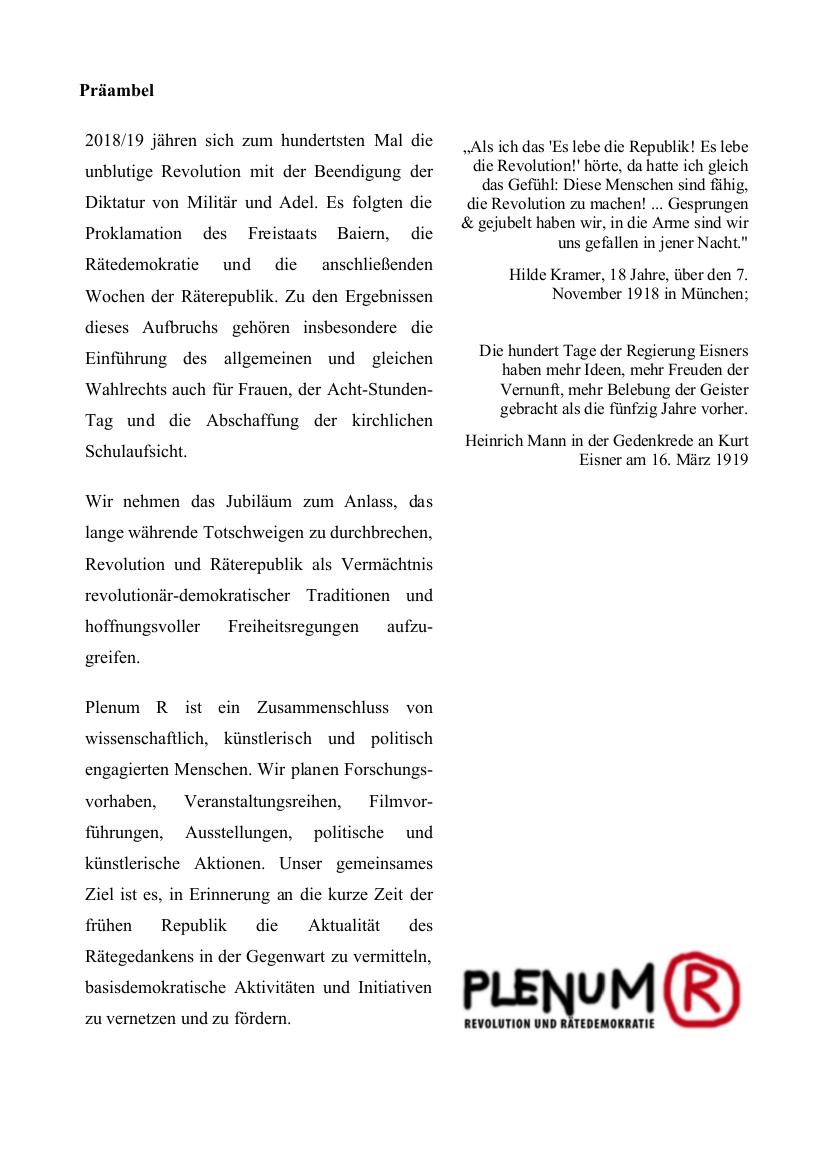 Präambel PlenR