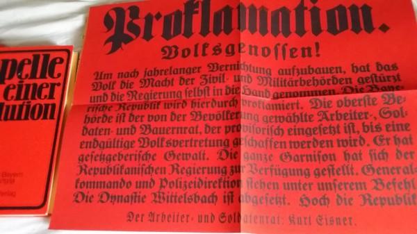 Proklamation Volksstaat Bayern