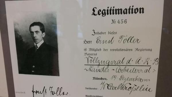 Ernst Toller, Archiv der Münchner Arbeiterbewegung
