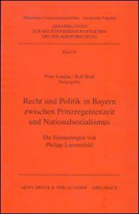 Philipp Loewenfeld Recht und Politik