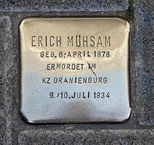 erich mühsam-stolperstein Lübeck