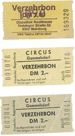 Circus gammelsdorf Verzehrbon