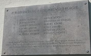 Perlacher Bürger ermordet 3.5.1919 am Wiener Platz München