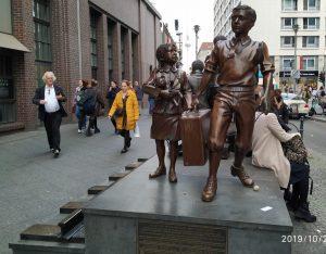 Hans Türk und Kindertransport-Skulptur Berlin